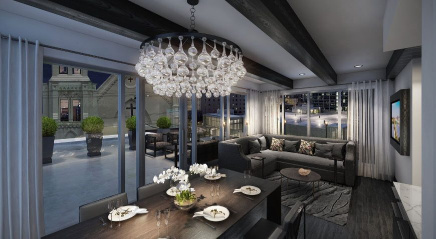 interior of penthouse suite