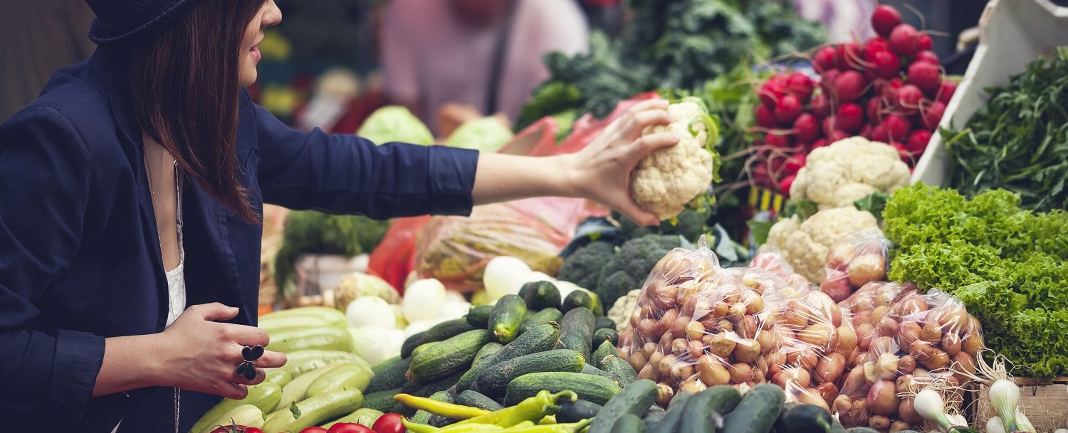 Shop for local produce and products at the farmers market in Marion Square!