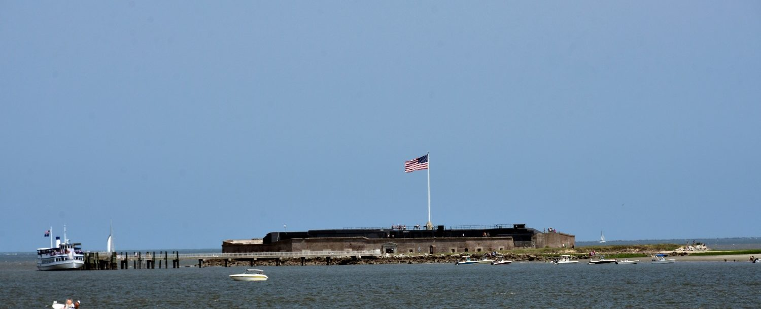 view of fort sumter national monument from charleston harbor