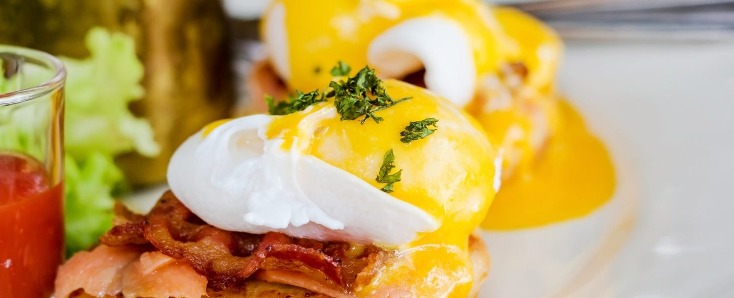 image of poached eggs at brunch